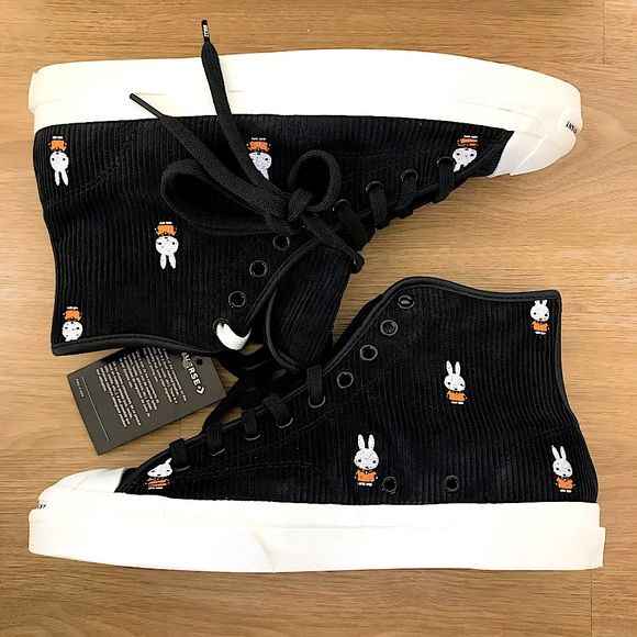 Converse x Miffy | Black High Top Sneakers - US 9